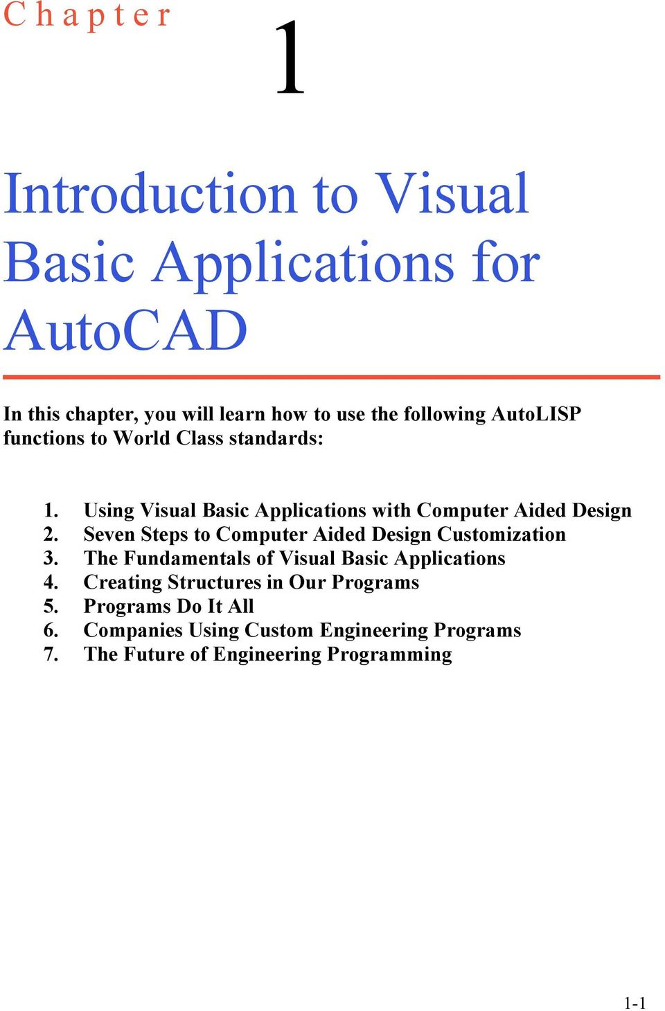 Introduction to Visual Basic Applications for AutoCAD - PDF