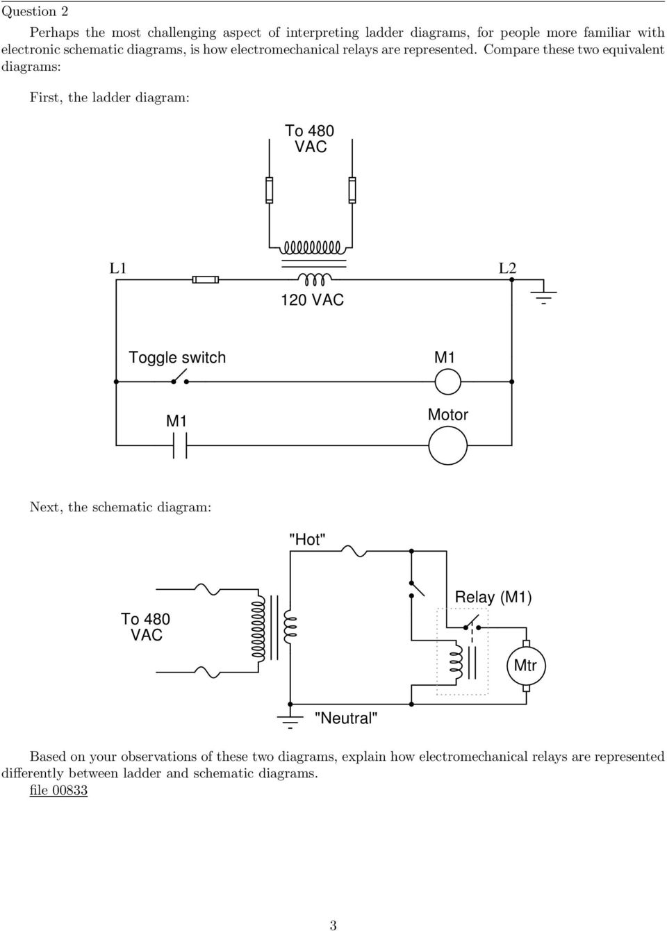 Ac motor control circuits pdf compare these two equivalent diagrams first the ladder diagram to 480 vac l1 ccuart Image collections