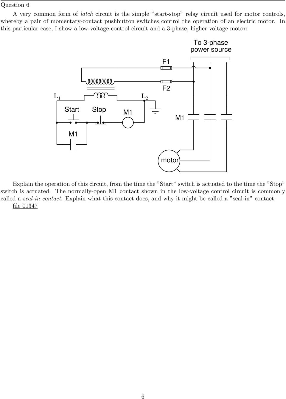 Ac Motor Control Circuits Pdf Basic Relay Circuit In This Particular Case I Show A Low Voltage And 3