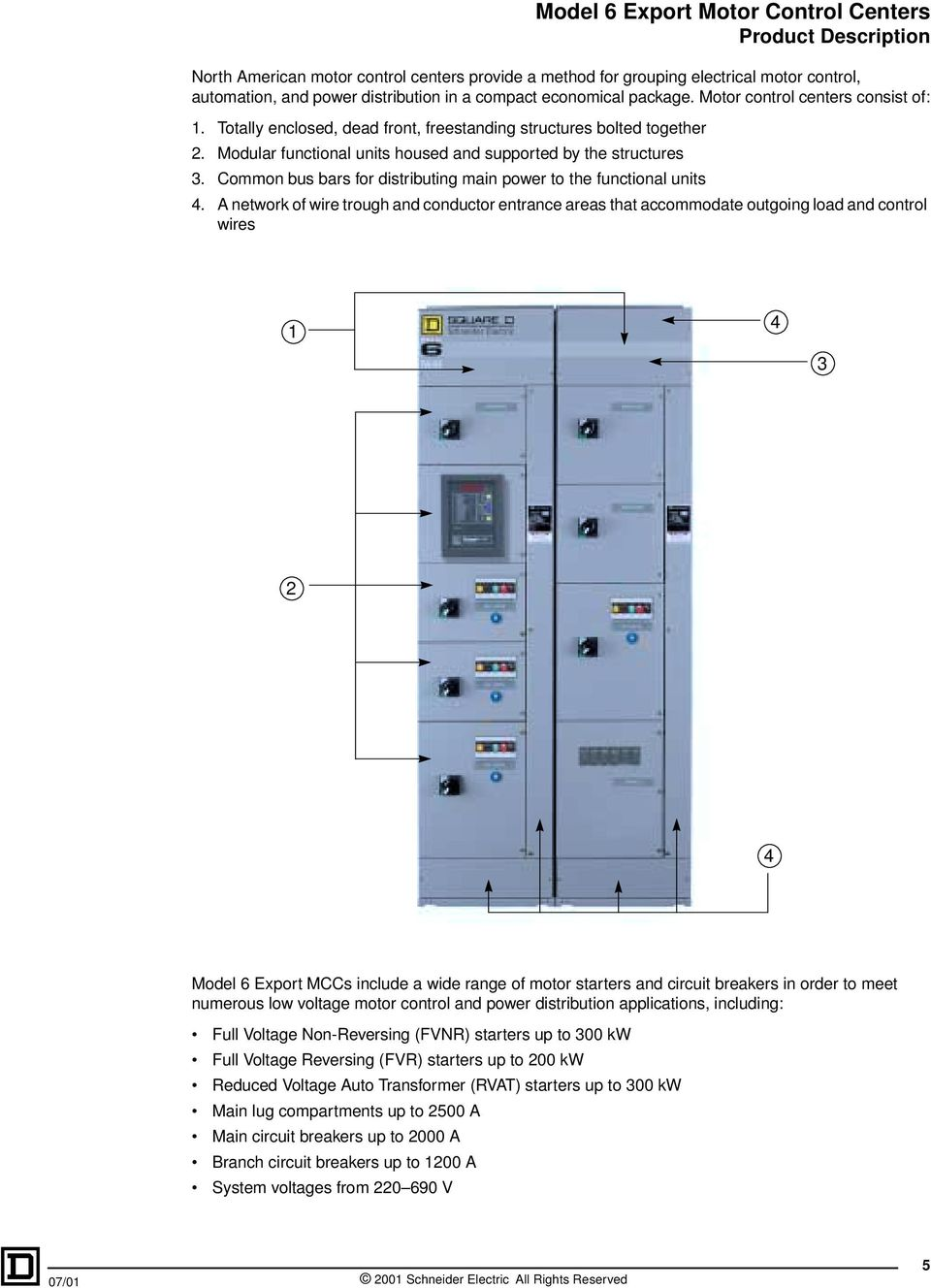 Model 6 Export Motor Control Centers Pdf Wiring Diagram Also Center Common Bus Bars For Distributing Main Power To The Functional Units 4