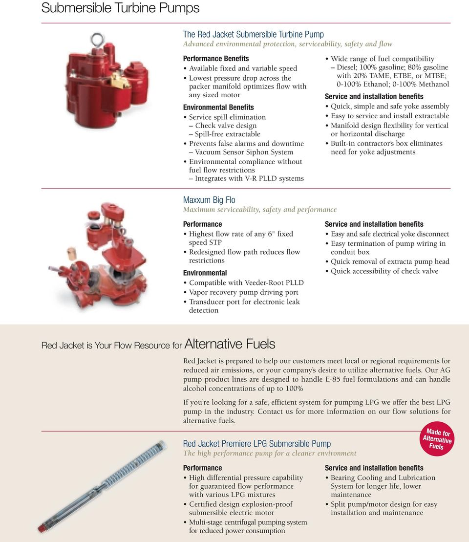 Red Jacket. Products and Solutions that Optimize Fuel Flow ... on