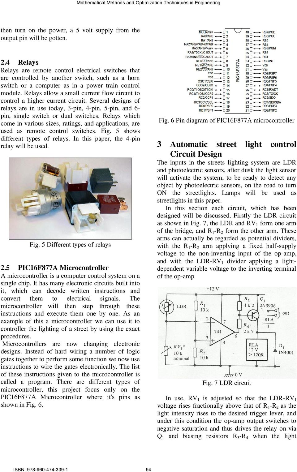 Automatic Street Light Control System Using Microcontroller Pdf Switch And Sensor Ldr Circuit Also Simple Relay Diagram Relays Allow A Small Current Flow To Higher Several Designs