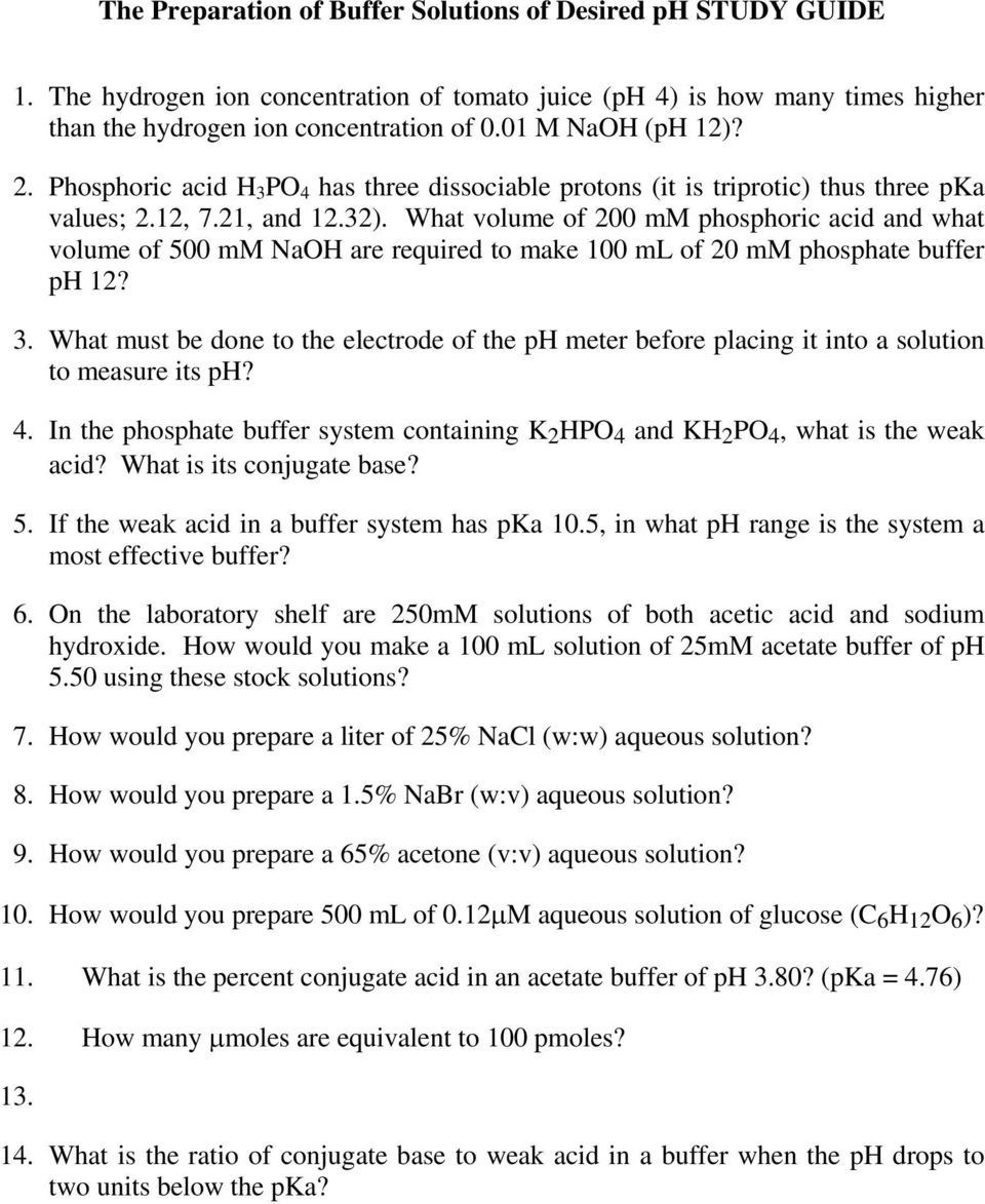 3 The Preparation of Buffers at Desired ph - PDF