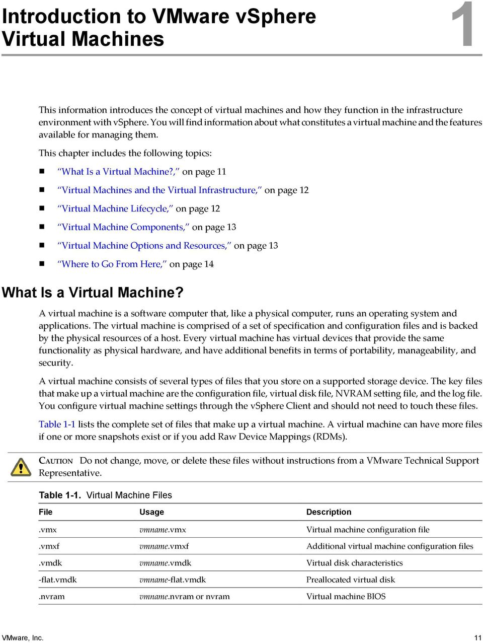 , on page 11 Virtual Machines and the Virtual Infrastructure, on page 12 Virtual Machine Lifecycle, on page 12 Virtual Machine Components, on page 13 Virtual Machine Options and Resources, on page 13