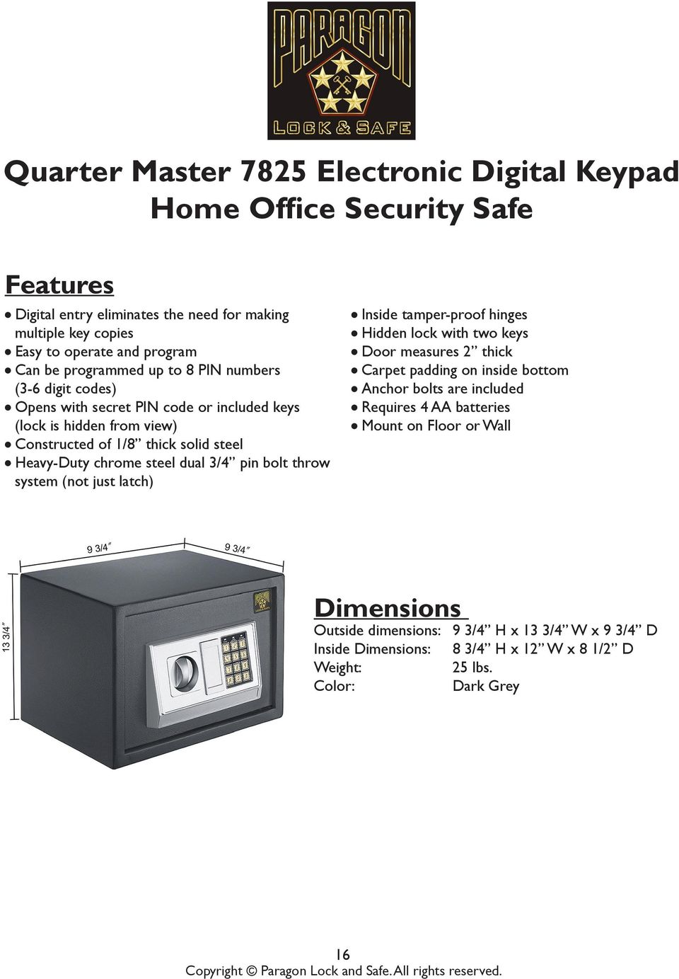 Operating Manuals For Safe Models Pdf Picture Of Quiz Show Buzzer System Using Staples Easy Button Dual 3 4 Pin Bolt Throw Not Just Latch L Inside Tamper