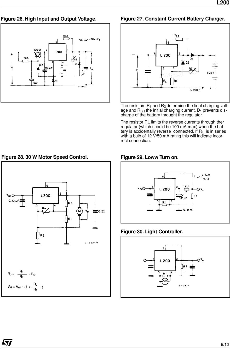 Adjustable Voltage And Current Regulator Pdf Battery Charger Circuit Diagram Using L200 D 1 Prevents Discharge Of The Throught