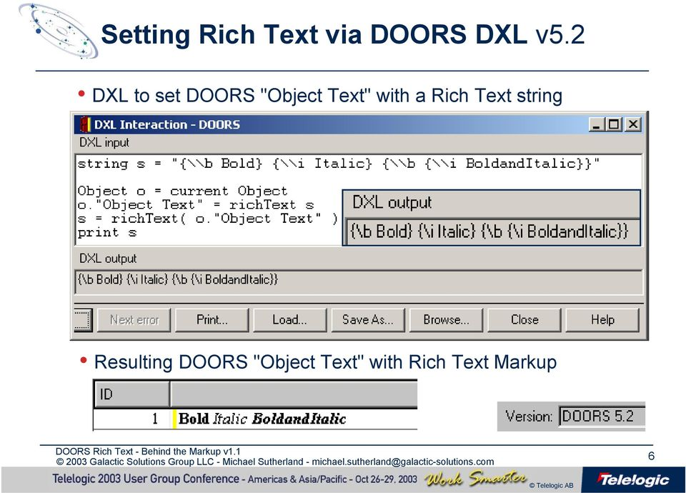 DOORS Rich Text - Behind the Markup  Michael Sutherland