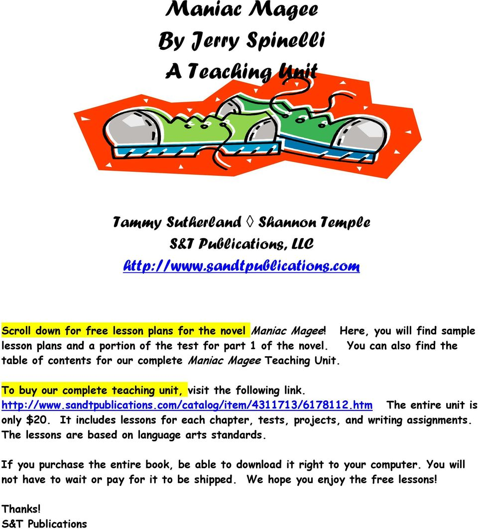 Maniac magee common core standards concepts array maniac magee by jerry spinelli a teaching unit pdf rh docplayer net fandeluxe Choice Image