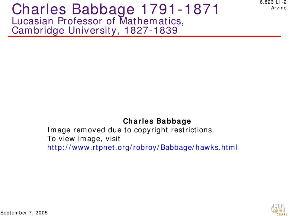 823 L1-2 Charles Babbage Image removed due to copyright