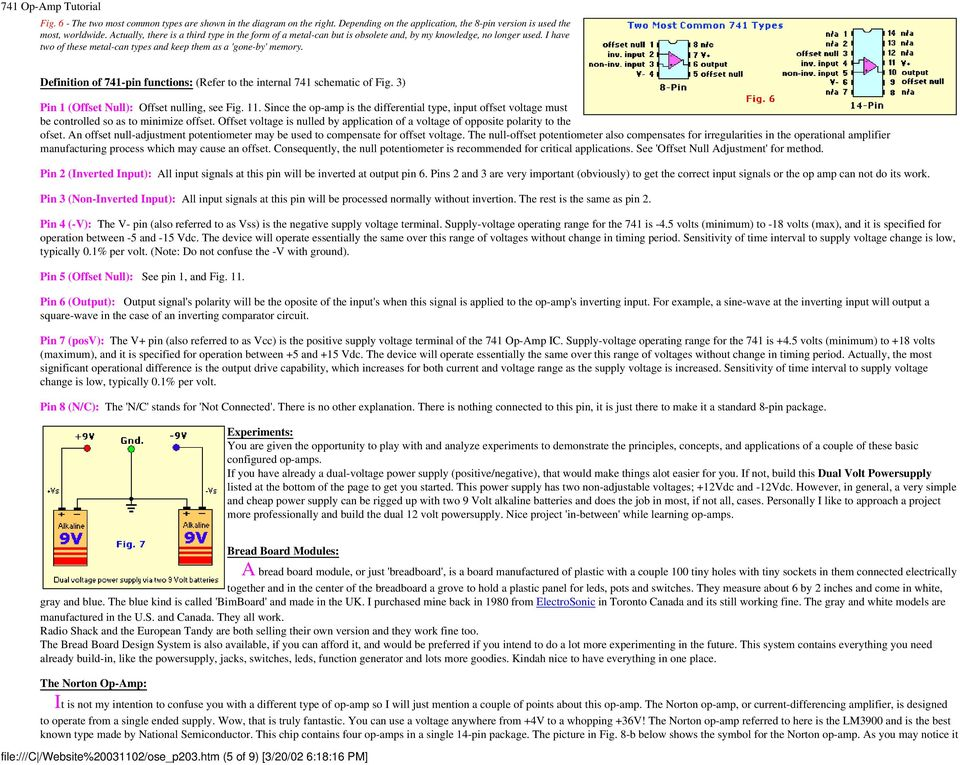 741 Op-Amp Tutorial  What Exactly Is An Op-Amp? - PDF