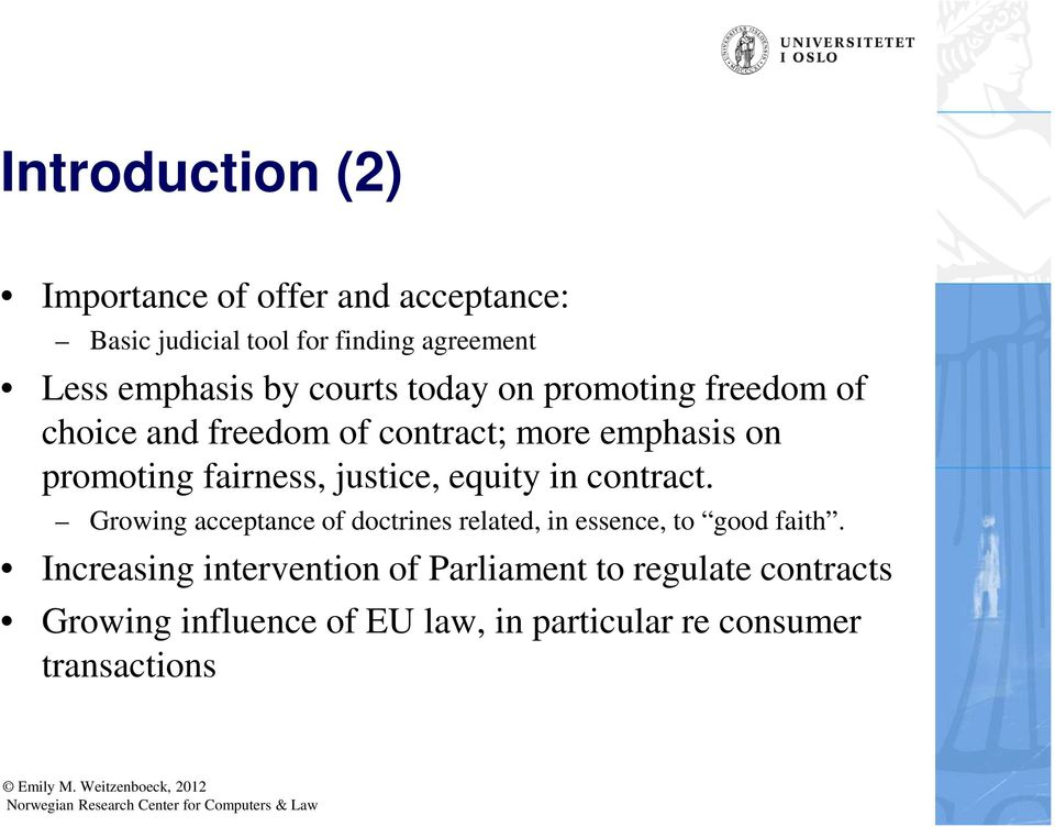 English Law Of Contract Introduction To Course Element Of
