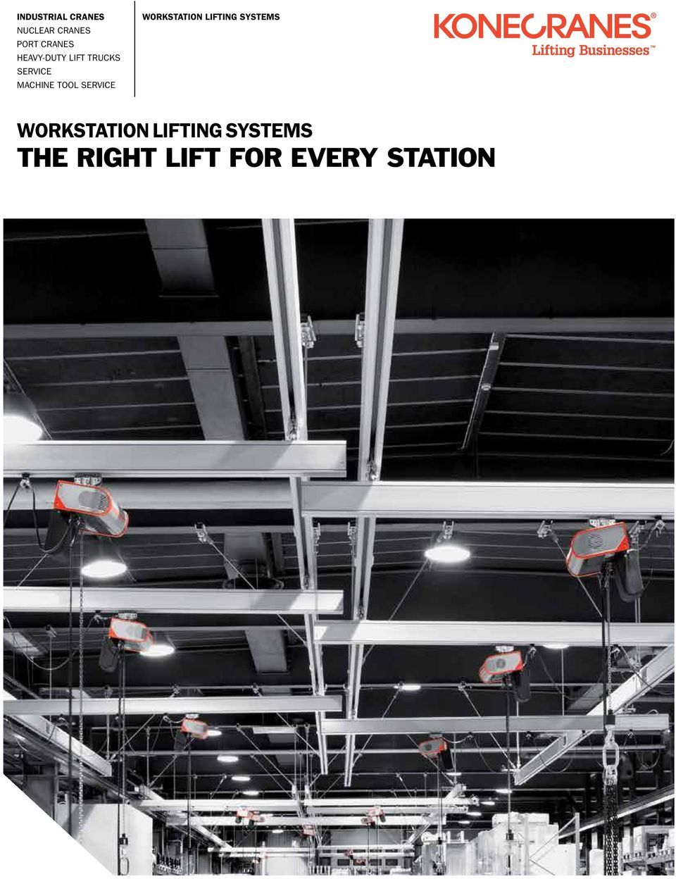 The Right Lift For Every Station Pdf Workstation Cranes Overhead Work Crane Ase Systems Service Lifting