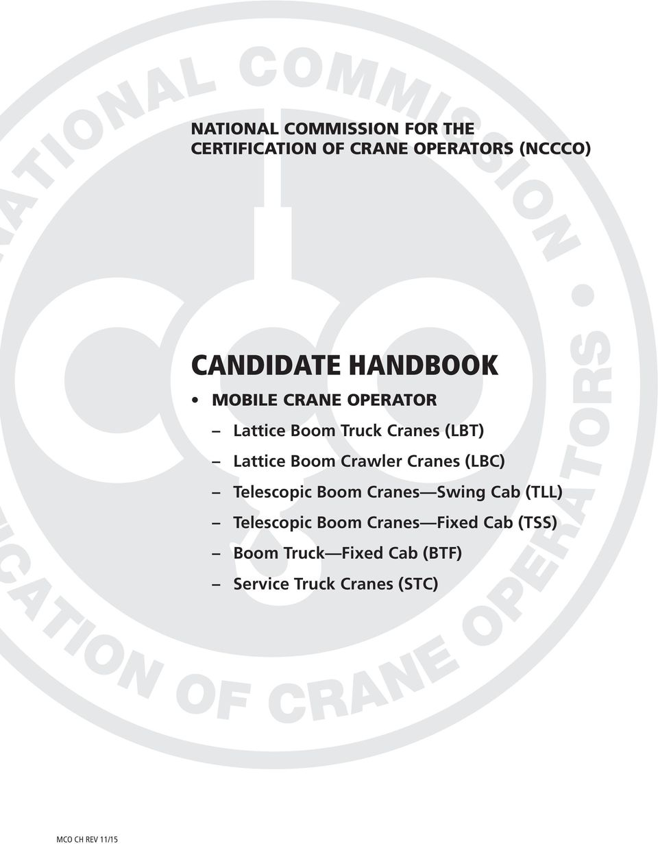 national commission for the certification of crane operators nccco rh docplayer net NCCCO Crane Three Stars NCCCO Crane Inspector