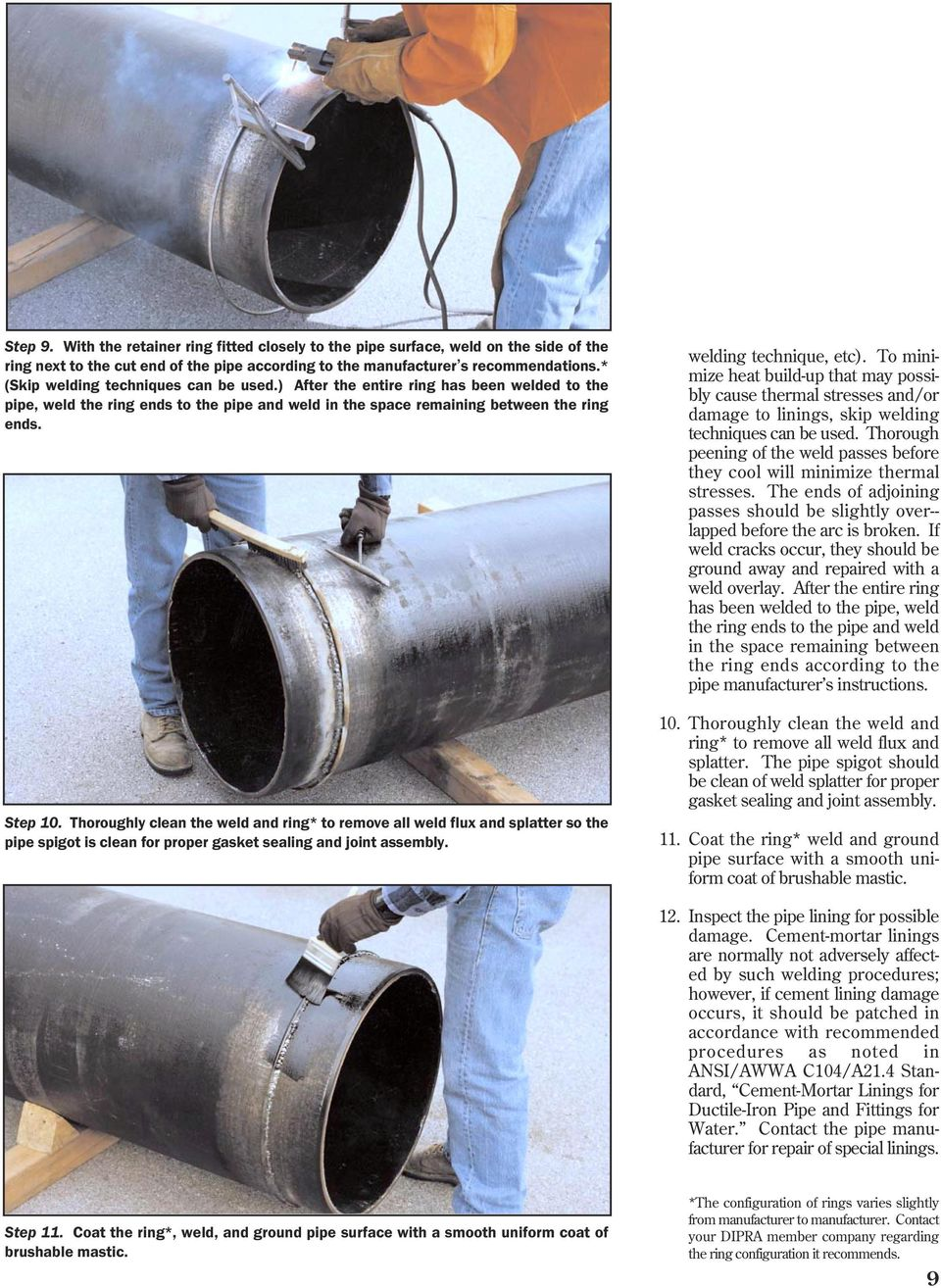 FIELD WELDING AND CUTTING DUCTILE IRON PIPE - PDF