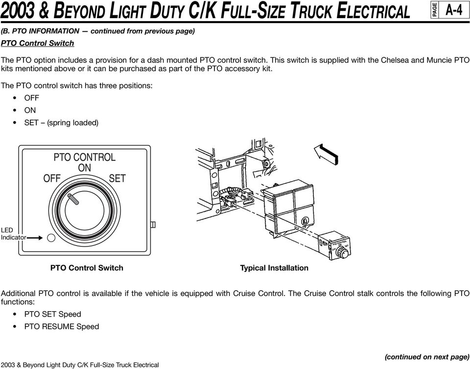 2003 & BEYOND LIGHT DUTY C/K FULL-SIZE TRUCK ELECTRICAL Overview - PDF