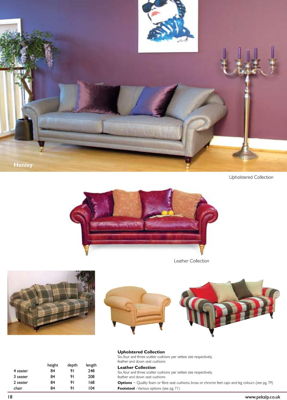 Per Settee Size Respectively Feather And Down Seat Cushions Options Quality Foam Or Fibre