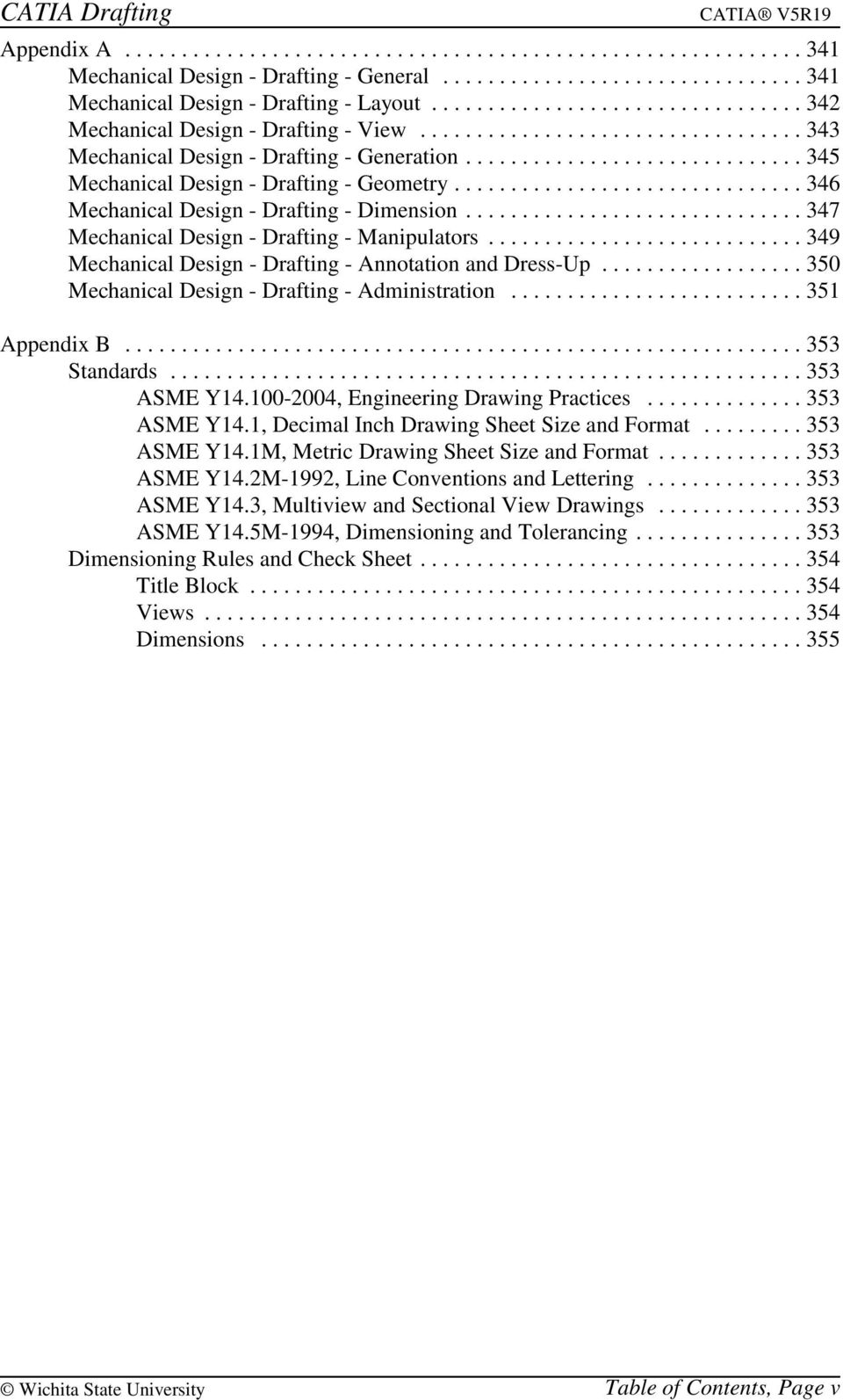 CATIA Drafting TABLE OF CONTENTS - PDF