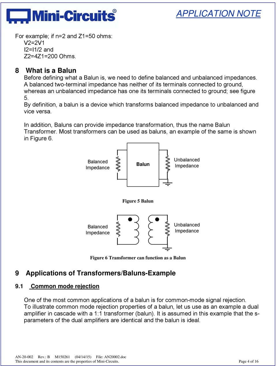Application Note on Transformers (AN ) - PDF