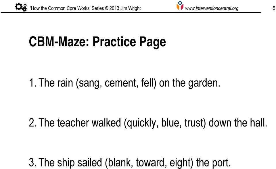 How To Assess Reading Comprehension With CBM Maze Passages