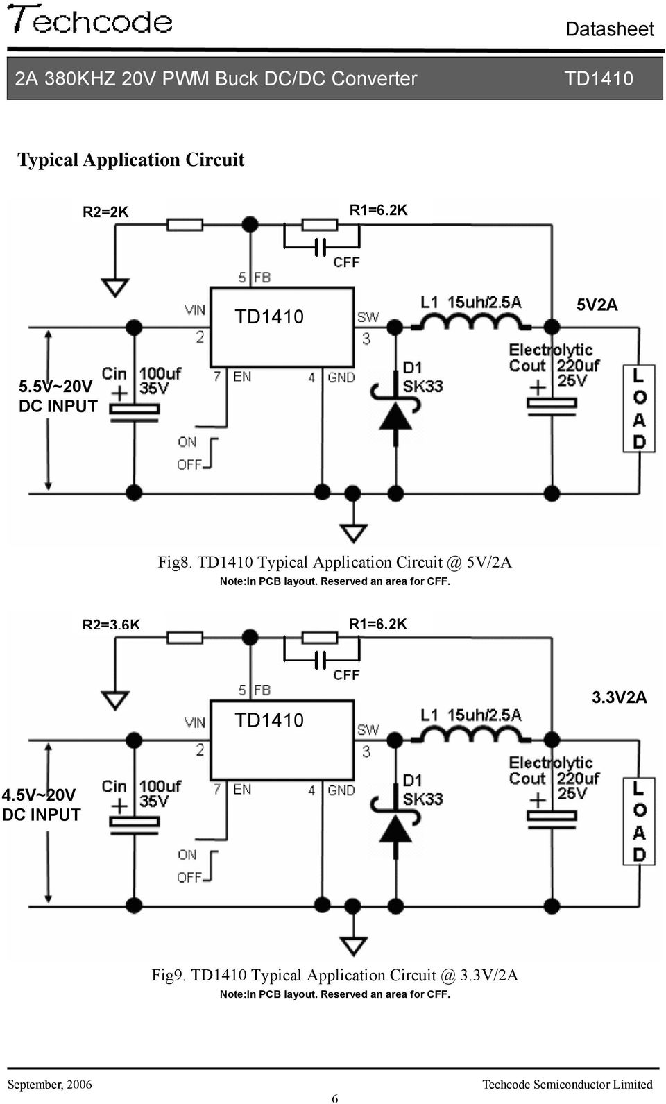 Datasheet 2a 380khz 20v Pwm Buck Dc Converter Features Pdf Design Of Temperature Controlled Boost Circuit Reserved An Area For Cff R236k R162k 33v2a