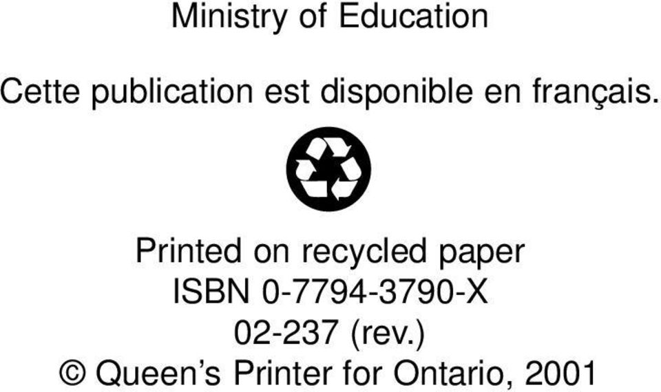 Printed on recycled paper ISBN