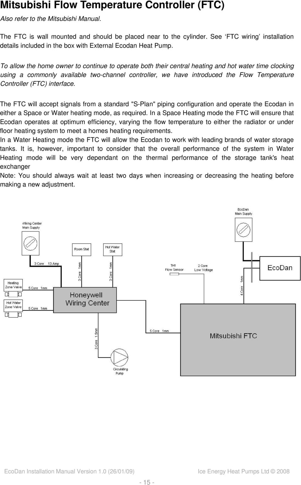 to allow the home owner to continue to operate both their central heating  and hot water  16 detailed honeywell wiring diagram ecodan