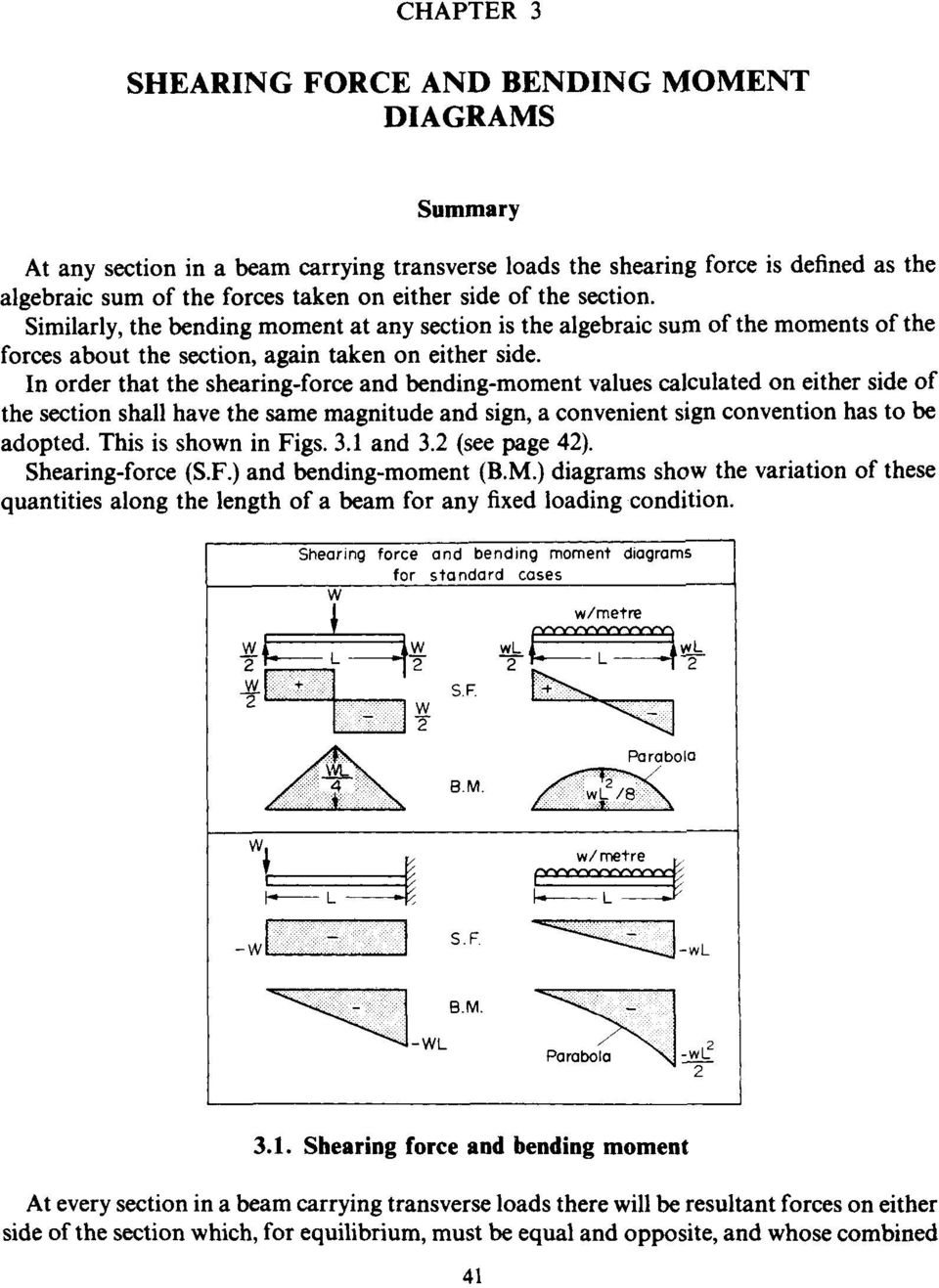 Chapter 3 Shearing Force And Bending Moment Diagrams Summary Pdf For Frames In Order That The Values Calculated On Either Side