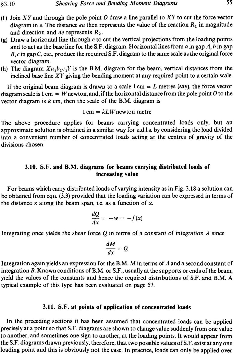 Chapter 3 Shearing Force And Bending Moment Diagrams Summary Pdf Draw The Shear Clearly Indicating G A Horizontal Line Through E To Cut Vertical Projections From