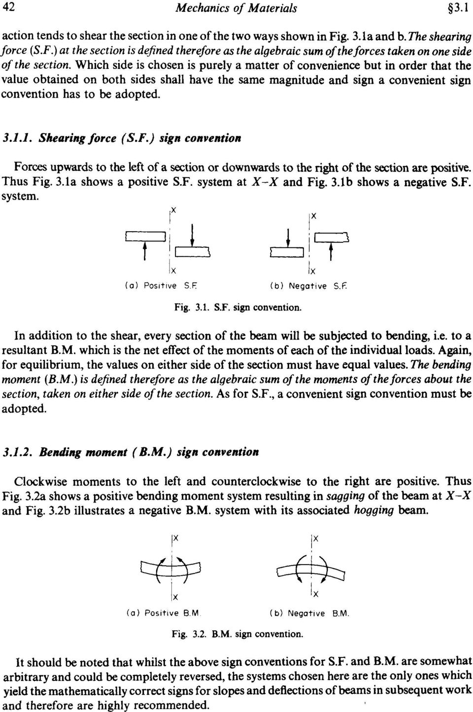 Chapter 3 Shearing Force And Bending Moment Diagrams Summary Pdf Diagram Resulting From The Elastic Analysis Of A Which Side Is Chosen Purely Matter Convenience But In Order That Value 32