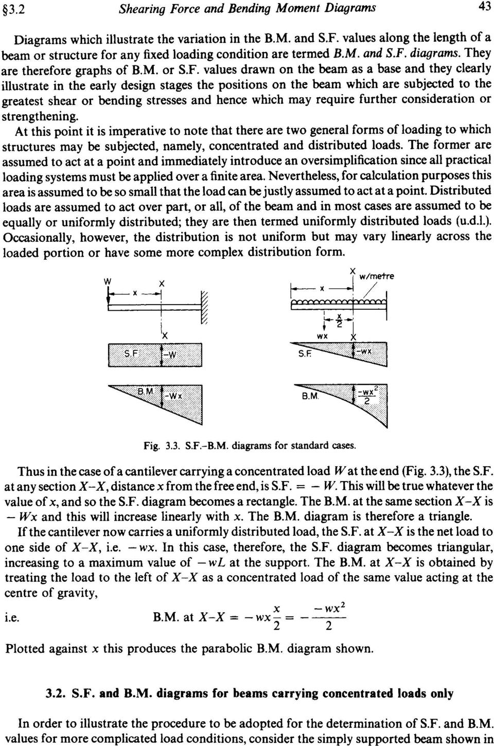 Chapter 3 Shearing Force And Bending Moment Diagrams Summary Pdf Frames Besides Diagram Frame On They Are Therefore Graphs Of Bm Or Sf