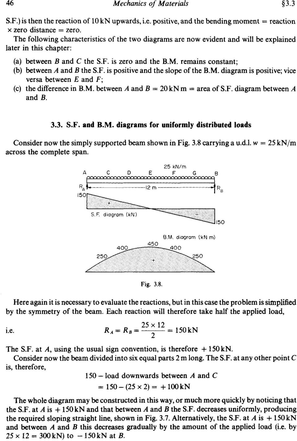 Chapter 3 Shearing Force And Bending Moment Diagrams Summary Pdf Diagram Of Cantilever Carrying Udl Uniform Distributed Load Remains Constant B Between A The Sf Is Positive 7 34