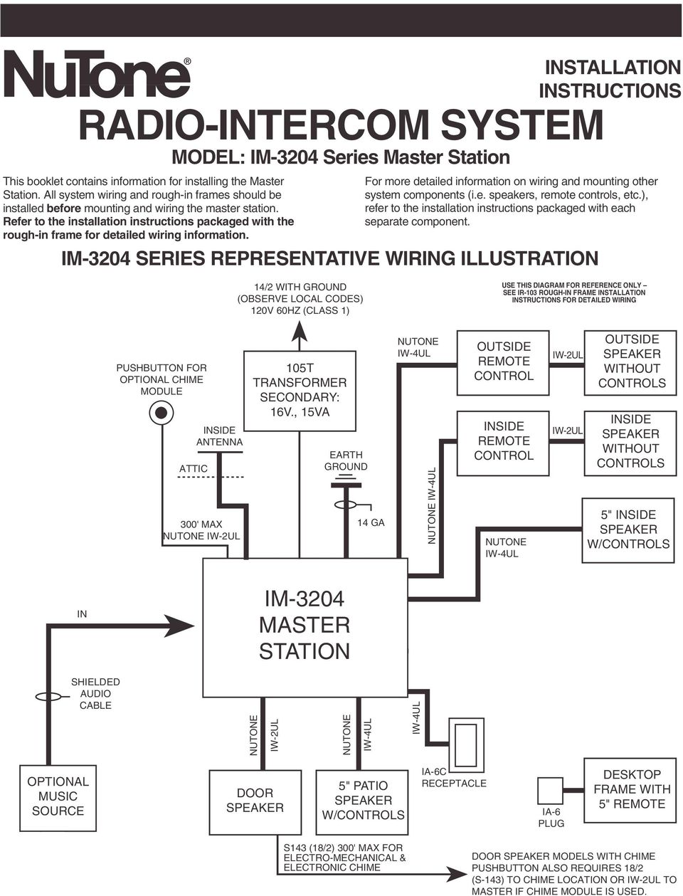 RADIO-INTERCOM SYSTEM - PDF Free Download on redman mobile home wiring diagram, alarm wiring diagram, doorbell installation diagram, dryer wiring diagram, smoke detectors wiring diagram, generac generator wiring diagram, washer wiring diagram, intercom connection diagram, doorbell transformer wiring diagram, central vacuum wiring diagram, nutone 3303 master station manual, nutone clock door chime wiring-diagram, security camera wiring diagram, broan wiring diagram, nutone door bell installation, central vac wiring diagram,