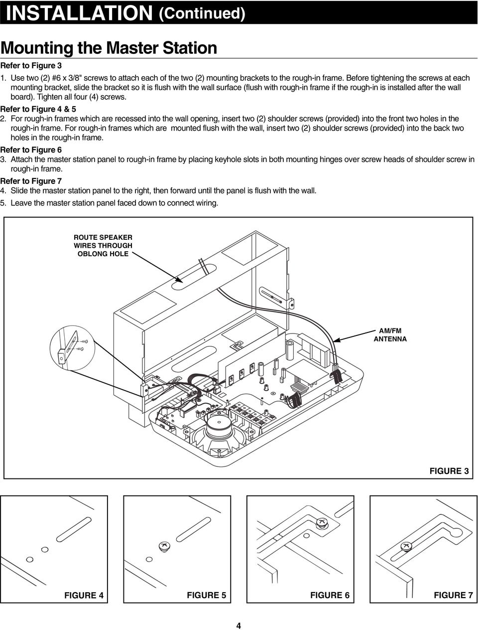Radio Intercom System Pdf Volume Control Wiring Diagram For Nutone Wall Tighten All Four 4 Screws Refer To Figure 5 2