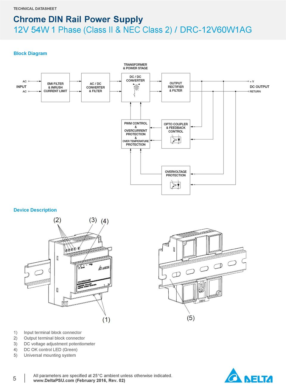 Ps104 12v Power Supply Circuit Diagram Electrical Wiring Diagrams Ac To Dc Chrome Din Rail 54w 1 Phase Class Ii Nec 2