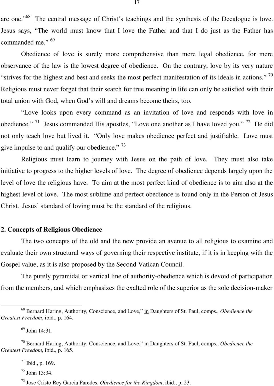 2) Psychological Dimension of Religious Obedience a  The