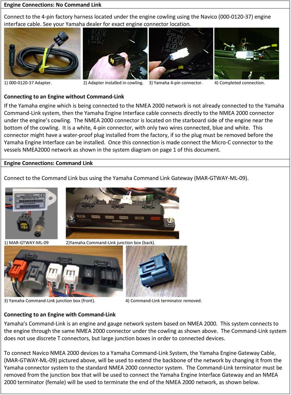Yamaha Engine NMEA2000 Connection - PDF on