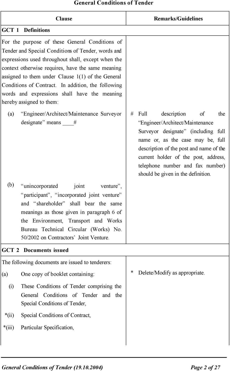 General Conditions of Tender - PDF