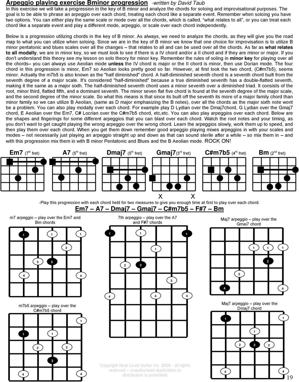 Next Level Guitar Instructional Dvd Series 9 12 Written Lessons The Chord Symble A7 Above A Bar It Means We Have To Play You Can Either Same Scale Or Mode Over All Chords Which Is