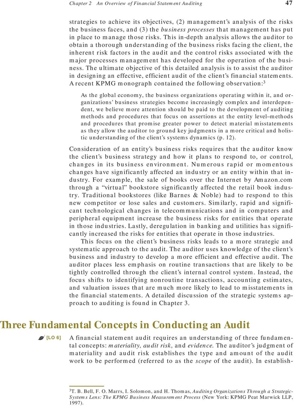 Chapter 2  An Overview of Financial Statement Auditing