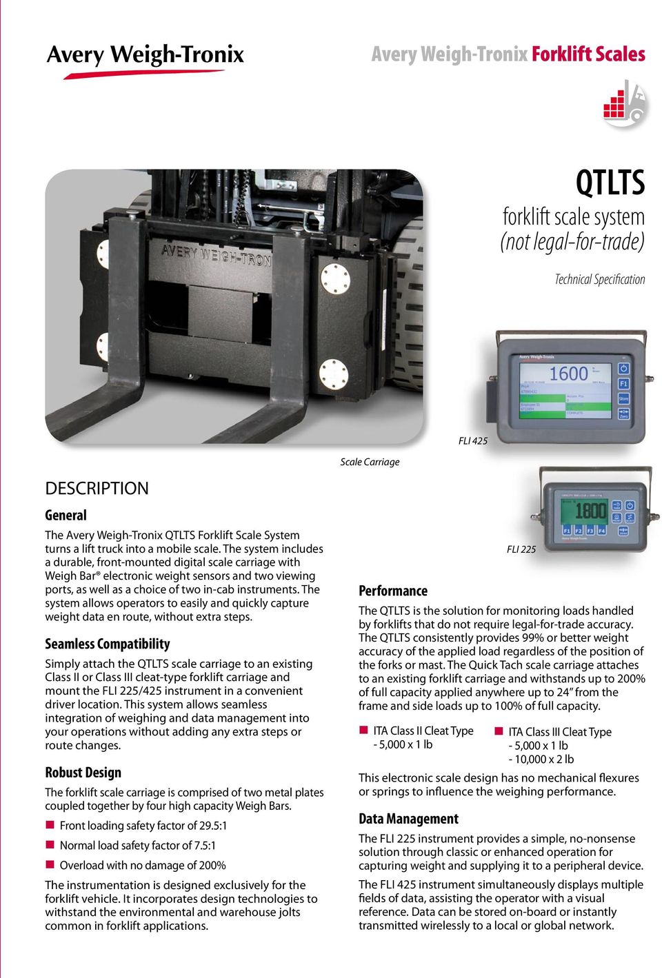 Qtlts Avery Weigh Tronix Forklift Scales Balances Counting Scales Pdf