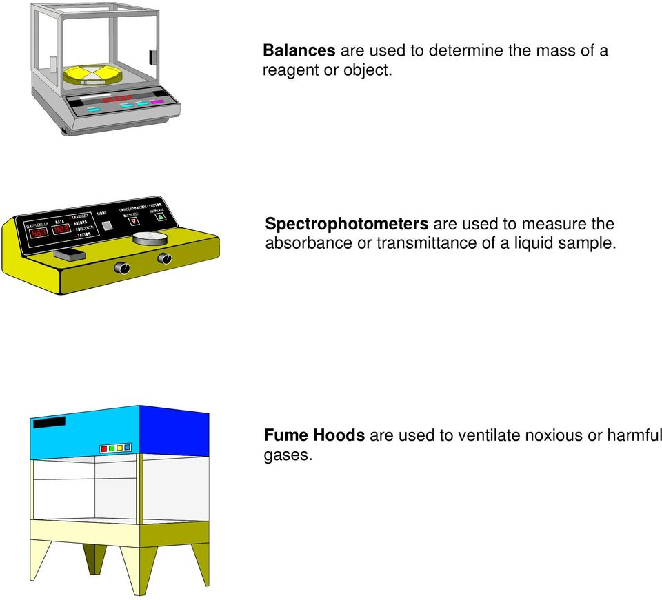 Spectrophotometers are used to measure the absorbance