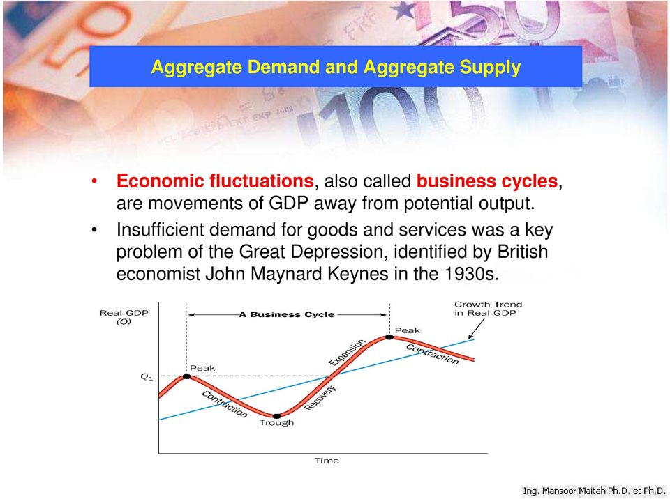 Insufficient demand for goods and services was a key problem of the