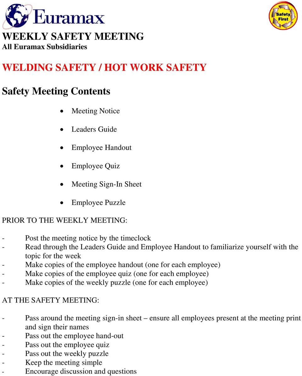 osha safety meeting sign in sheet