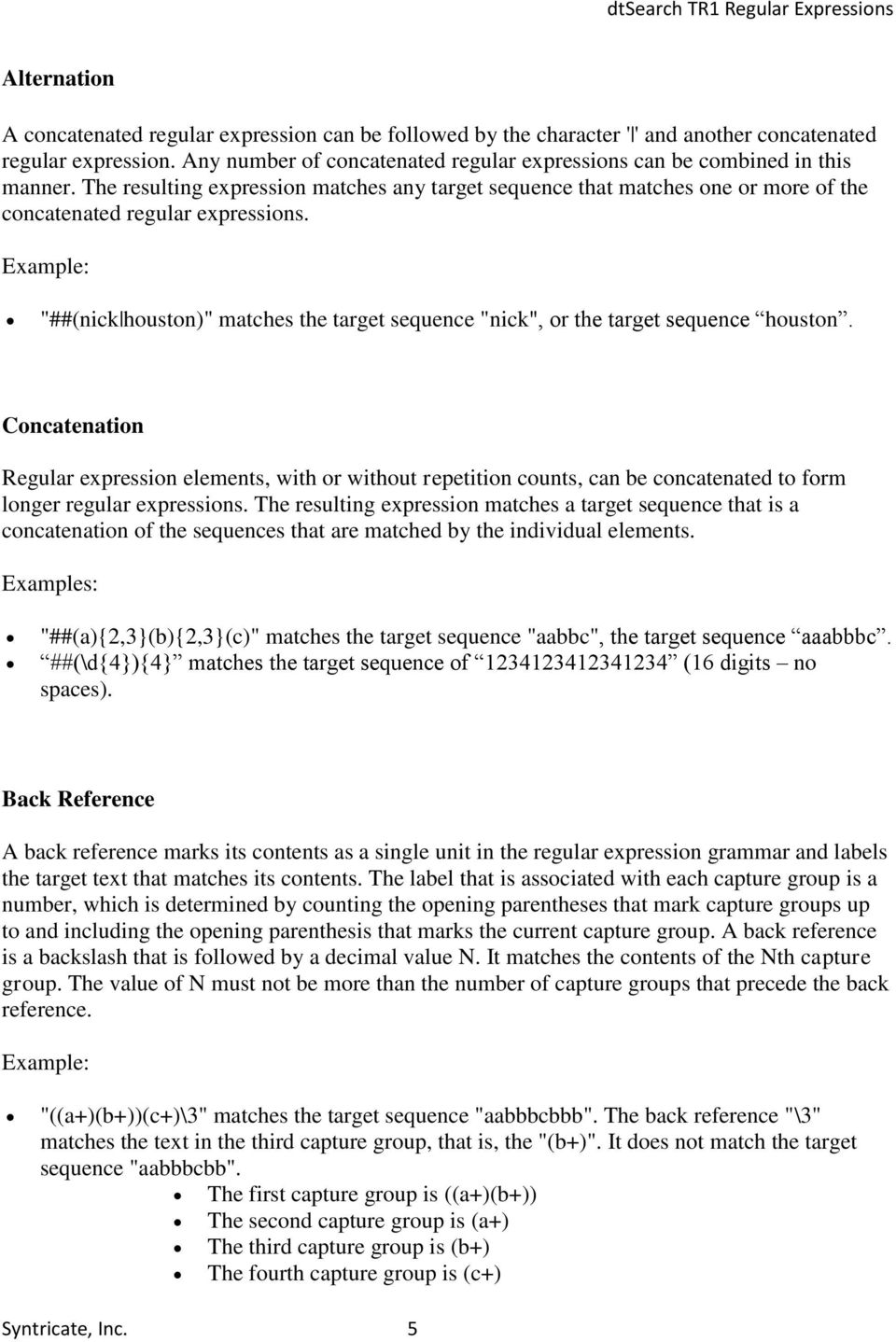 dtsearch Regular Expressions - PDF