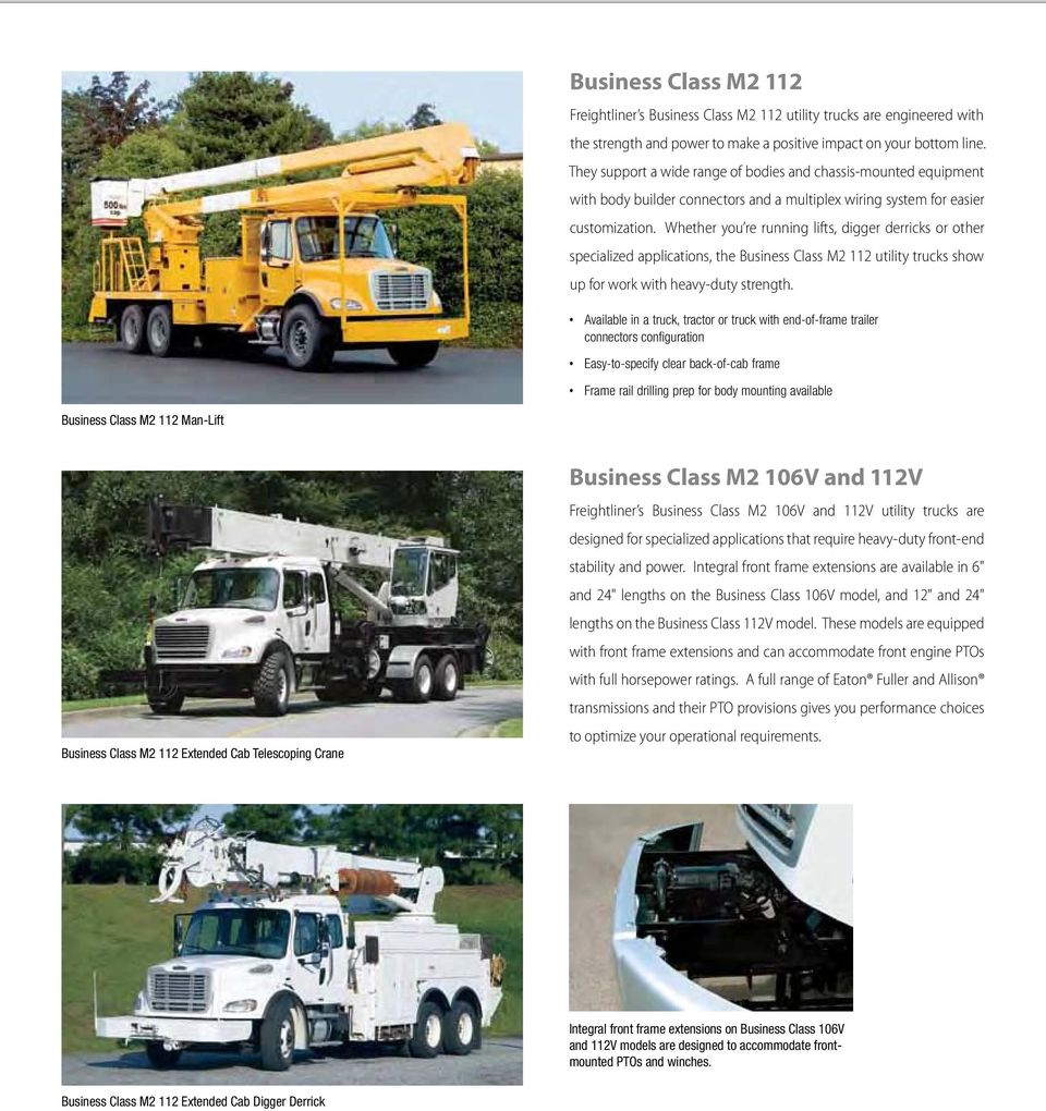 Freightliner Business Cl Ass M 2 Pdf Class M2 Fuse Box Whether You Re Running Lifts Digger Derricks Or Other Specialized Applications The