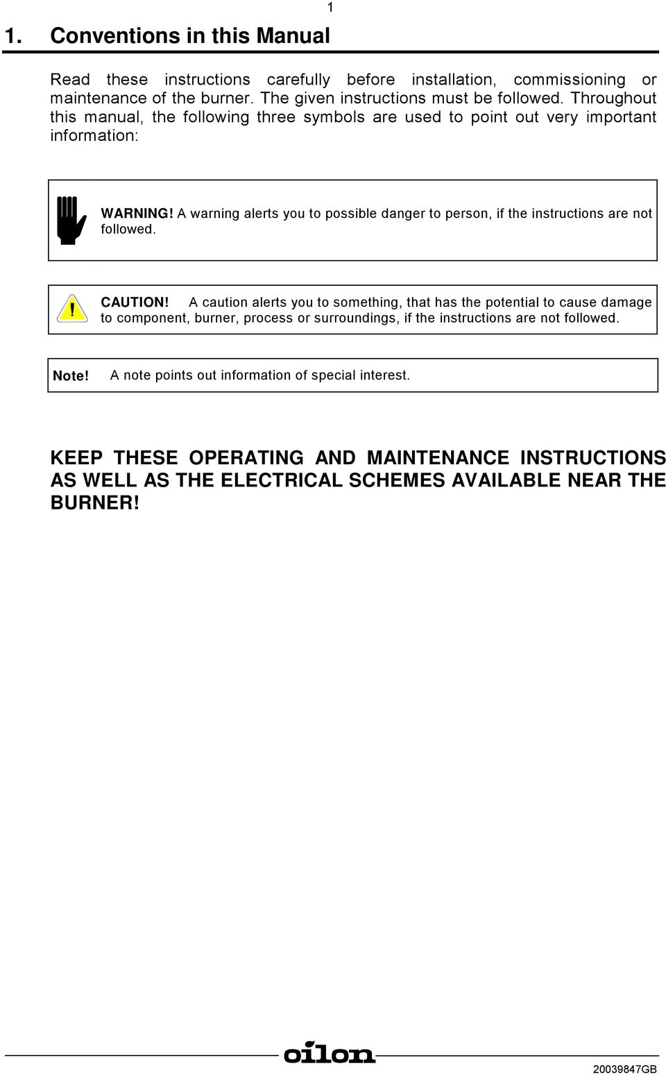 operating and maintenance instructions light oil burners pdf
