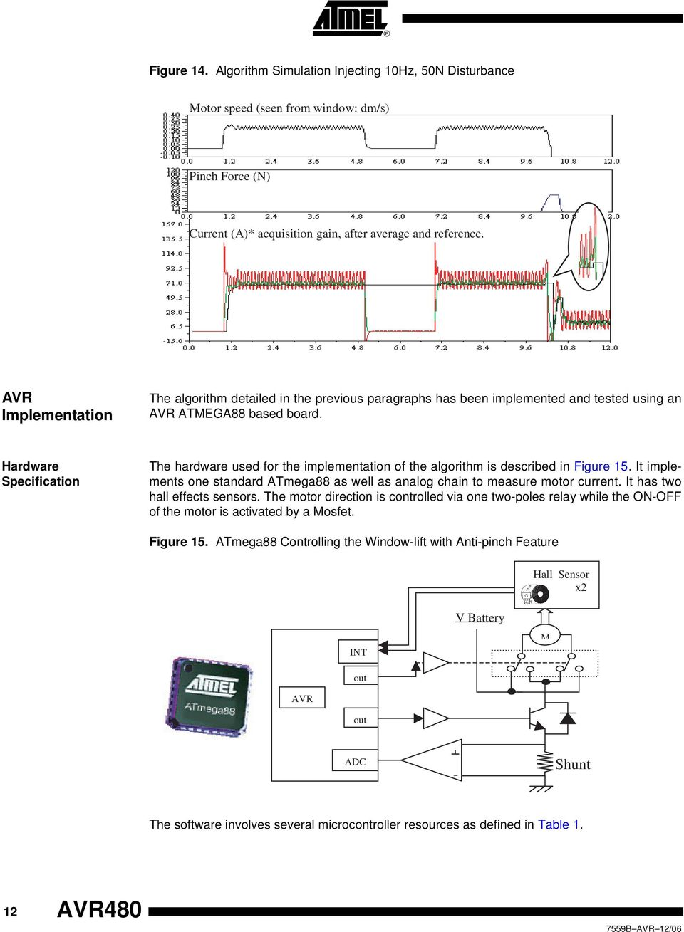 Application Note Microcontrollers Avr480 Anti Pinch System For Hall Effect Sensor Pic8051avr Usb Programmerdevelopment Boards Hardware Specification The Used Implementation Of Algorithm Is Described In Figure 15
