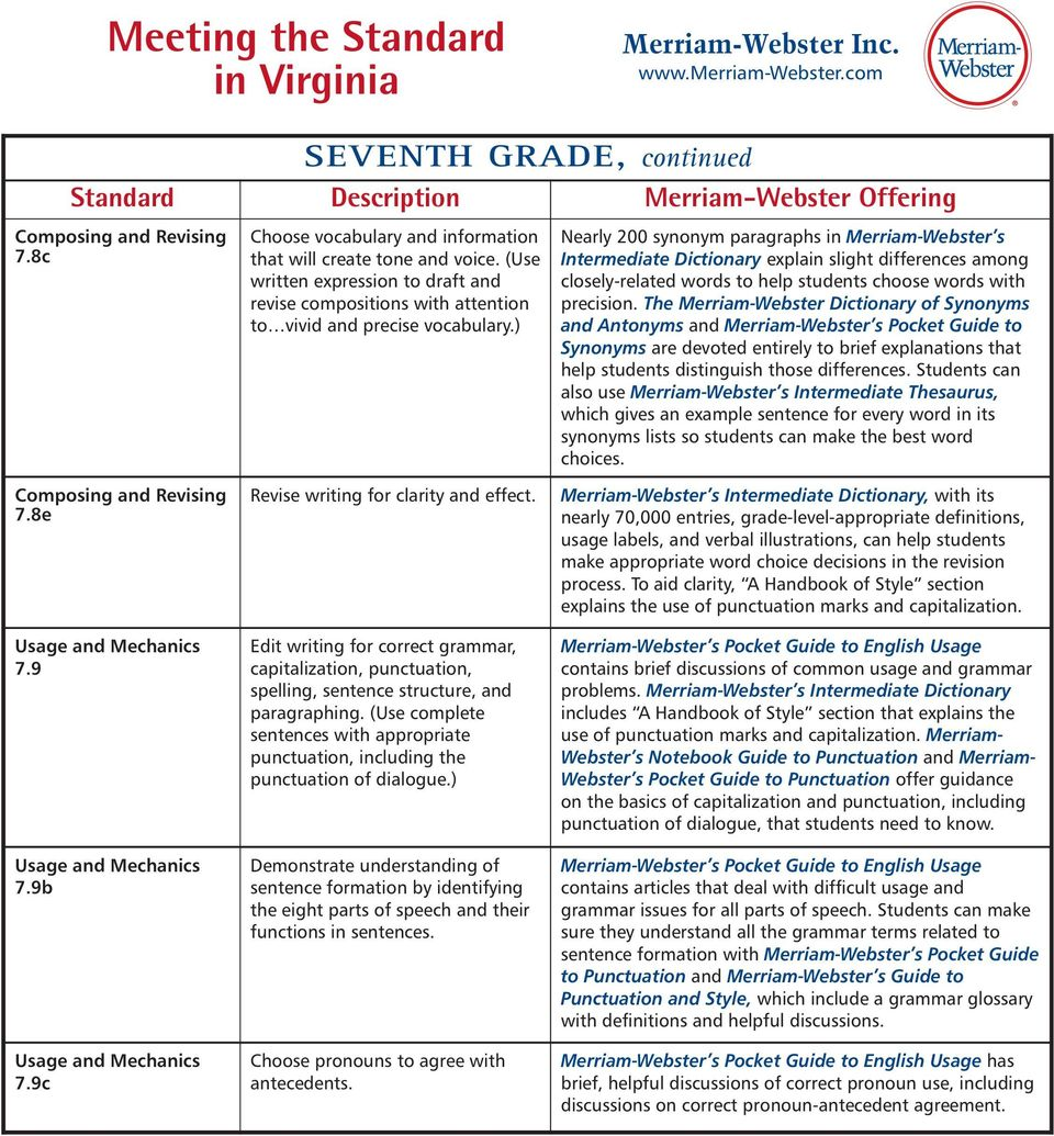 Meeting the Standard in Virginia - PDF