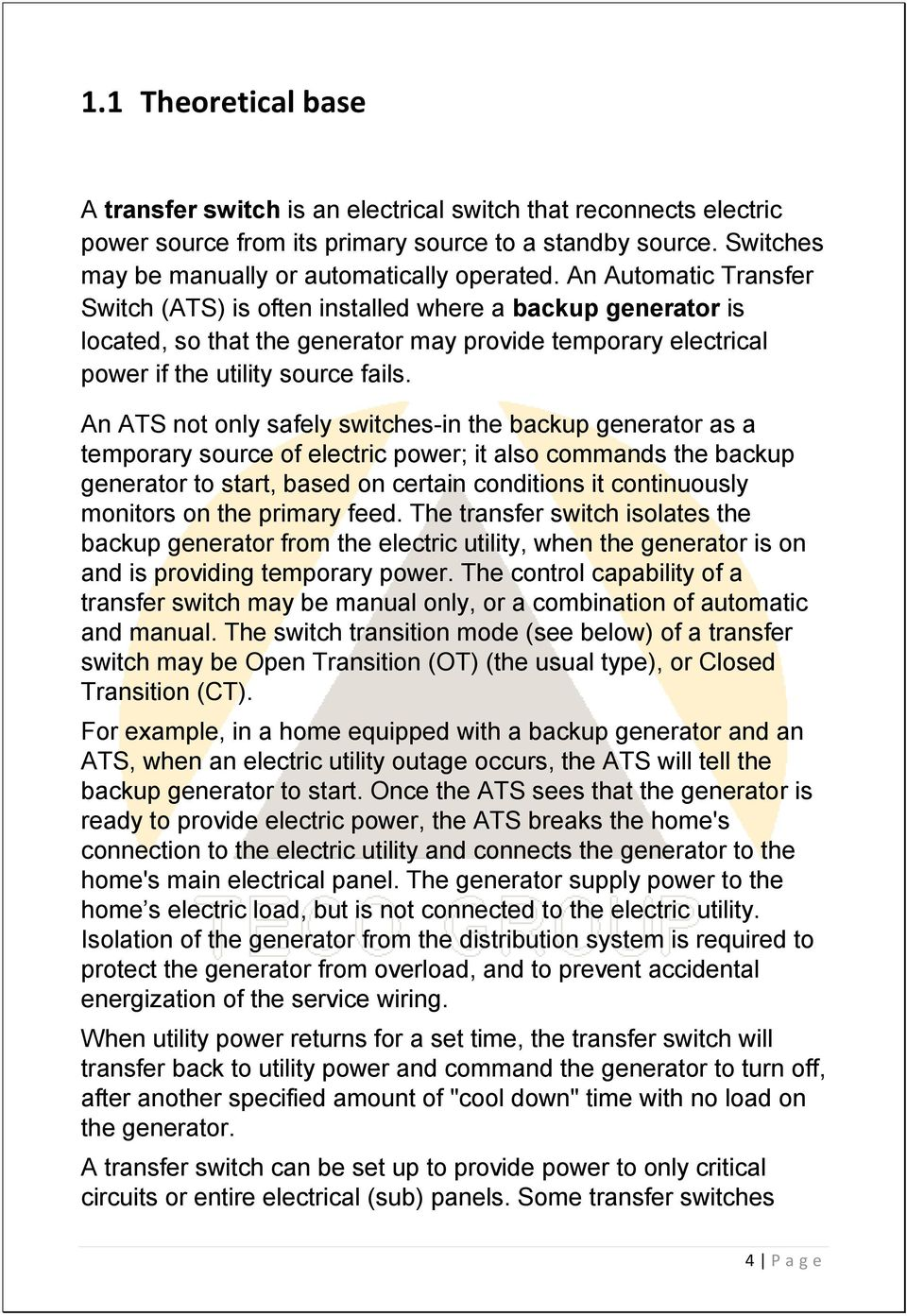Automatic Transfer Switch Changeover Type From 250a To 2500a Pdf Automatictransfer Ats 220v 5 Main Circuit Connectionjpg An Not Only Safely Switches In The Backup Generator As A Temporary Source Of