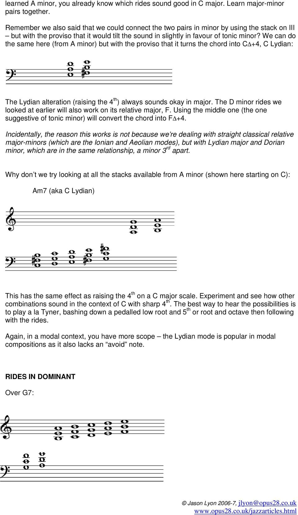 A BRIEF GUIDE TO PIANO FOURTH VOICINGS - PDF